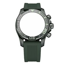 New Victorinox Swiss Army Rubber Strap Army Green Diver Watch Band 22mm 004713