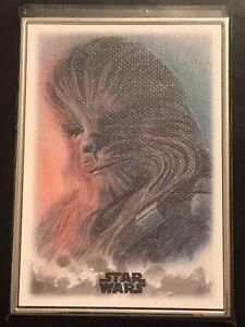 Chewbacca 2019 Topps Star Wars Stellar Sketch Art Reproduction #88 70/100
