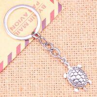Silver Turtle Tortoise Shell Animal Novelty Keyring Keychain + Free Gift Bag