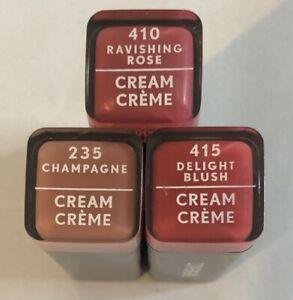 (3) Covergirl Colorlicious Cream Lipstick, 235, 410, And 415