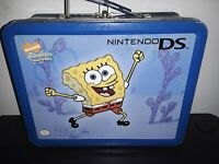 NINTENDO DS SPONGEBOB SQUAREPANTS Lunchbox DS Travel Case Padded Interior