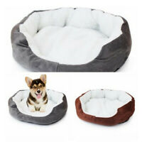 Soft Cotten Mat Pad Puppy Pet Dog Cat House Nest Fleece Warm Cozy Bed Flannel