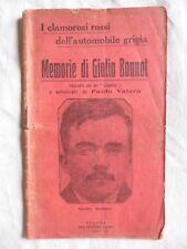 MEMORIE DI GIULIO BONNOT 1913 autenticate da Paolo Valera 1° Edizione Originale