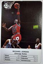 Michael Jordan 1988-89 Fournier Estrellas #22 : Rare Vintage MJ Playing Card