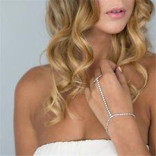 Slave Ring Chain Link Hand Finger Bracelets Harness Bangles Diamond