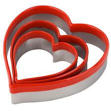3 prise facile En forme de cœur emporte pièce pour cookie glaçage massepain