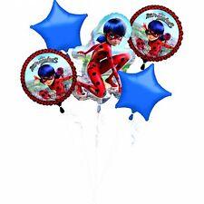 AMSCAN 3796501 - Folienballon - Miraculous, 5 Stck