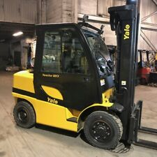 2007 Yale Glp080Vxn 8000lbs Used Forklift Triple Mast Sideshift Lp Gas Pneumatic