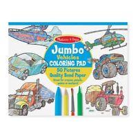 Melissa and Doug Jumbo Coloring Pad - Vehicles - 14205 - NEW!