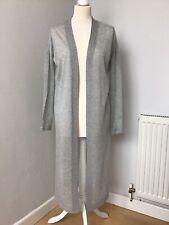 Brand New All Saints Fleur Pale Grey Cardigan Long Slit Side Size XS RRP £128