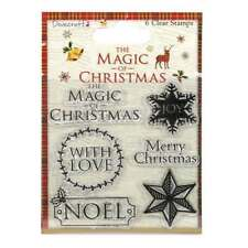 Dovecraft Stamp Set The Magic of Christmas Sentiment Set of 6