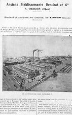 VIERZON STE BROUHOT LOCOMOTIVES BATTEUSES ARTICLE PRESSE 1922