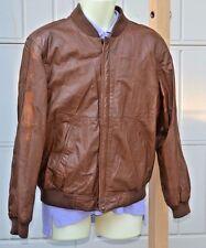 Vittorio Rex Italian Leather Jacket Size 44 Large Brown