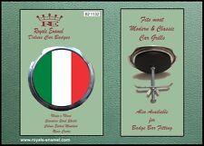 ROYALE Classic Auto GRILL BADGE + RACCORDI-ITALIA TRICOLOUR B2.1132