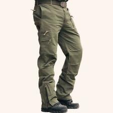 Men's Casual Cotton Multi Pocket Solid Military Tooling Pants Breath Outwear Hot