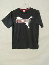 S4703 Puma Boys XL Black T-Shirt With Puma Graphic