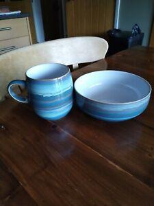 Denby Azure Mug And Bowl