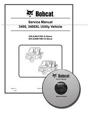 Bobcat 3400 3400XL Utility Vehicle Workshop Service Manual CD + Download 6989606