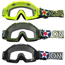 O'Neal B-10 Goggle Warhawk Moto Cross Brille MX DH FR Klar Downhill Schlagfest