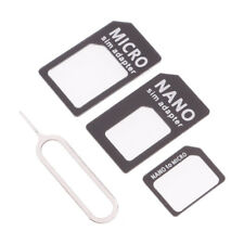Universal Nano Sim Card Adapter Converter To Standard Sim 4 in 1 Kit