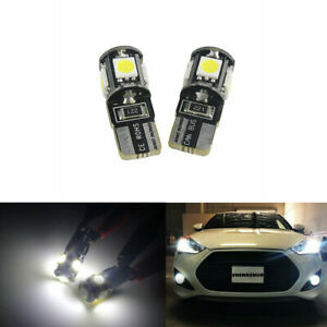 2X T10 501 W5W 6000K CAR SIDE Number Plate LIGHT BULBS WEDGE SMD LED XENON WHITE