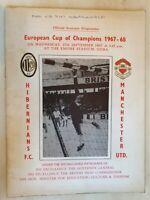1967/68 European Cup - HIBERNIANS (Malta) v MANCHESTER UNITED Original