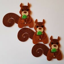X3 Squirrel Embellishments.Die cuts