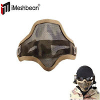 iMeshbean Tactical Airsoft Mask Striker Steel Metal Mesh Lower Half Face Mask SD