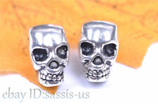 10pcs Charm Spacer Skull Bead Diy Jewelry Bracelet Necklace Tibet Silver 7068