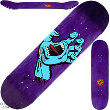 "SANTA CRUZ ""Minimal Hand"" Skateboard Deck 8.375"" PURPLE Phillips Park Screaming"