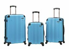 Rockland F190-TURQUOISE 3 Pc Sonic Abs Upright Luggage Set - Turquoise