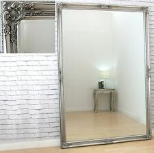 Bristol X Large Full Length Vintage Wall Leaner Mirror Antique Silver 183x122cm