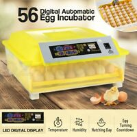 Pet Scene 56 Egg Incubator Fully Automatic LED Hatching Chicken Duck Egg Poultry