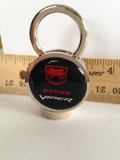 Dodge Viper Keychain Solid  Brass Chrome Plated Gift Boxed Key Chain