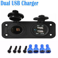 12V Dual USB Car Cigarette Lighter Socket Splitter Power Adapter Charger Outlet