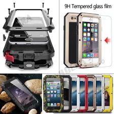 Aluminum Metal Bumper Gorilla Tempered Glass Case For iPhone 5 6 7 8 11 X XS Max