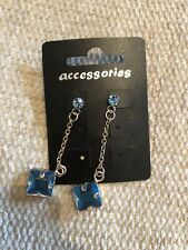 Accessories Blue Square Shaped Earrings