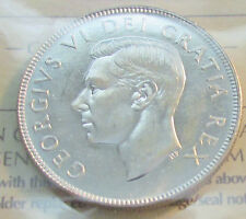 Canada 1952 50 Cents Silver  King George VI  GEM UNC XJN 030