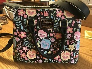 Disney ALICE IN WONDERLAND Floral Flowers Loungefly Crossbody Purse Bag