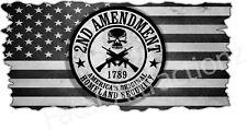 Homeland Security 2nd Ammendment American Flag Vinyl Decal sticker United States