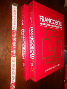 LIBRO- Francobolli le più belle raccolte per temi,Fabbri 1983 2 volumi Bolaffi R