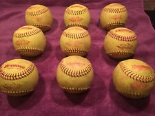 Softballs : Used : 9 Balls : Diamond Flyer