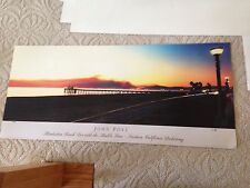 Manhattan Beach Pier With The Malibu Fires Signed Poster By John Post #C