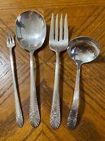 Crown Silverplate IS RADIANCE Meat Pickle Fork Casserole Spoon Gravy Ladle 1939