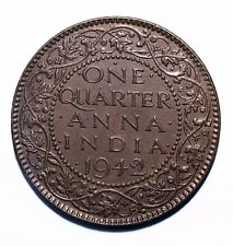 1942 India ¼ Quarter Anna - George VI - Lot 5