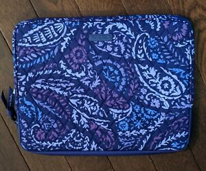 Vera Bradley Paisley Amethyst Design Laptop Sleeve Cover Case Bag Purple