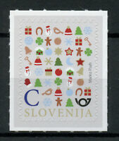 Slovenia Christmas Stamps 2019 MNH New Year Decorations Trees Value C 1v S/A Set