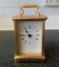 LONDON CLOCK CO. Brass Looking Carriage Mantle Piece Clock Quartz GC