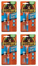 Gorilla Kleber 7800101 Super Kleber 3g 2-Pack, 4 Pack - 8 Tuben gesamt *