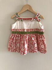 Matilda Jane Spice Is Nice Knot Top Girls Secret Fields Shirt Sz 2 Floral Velvet